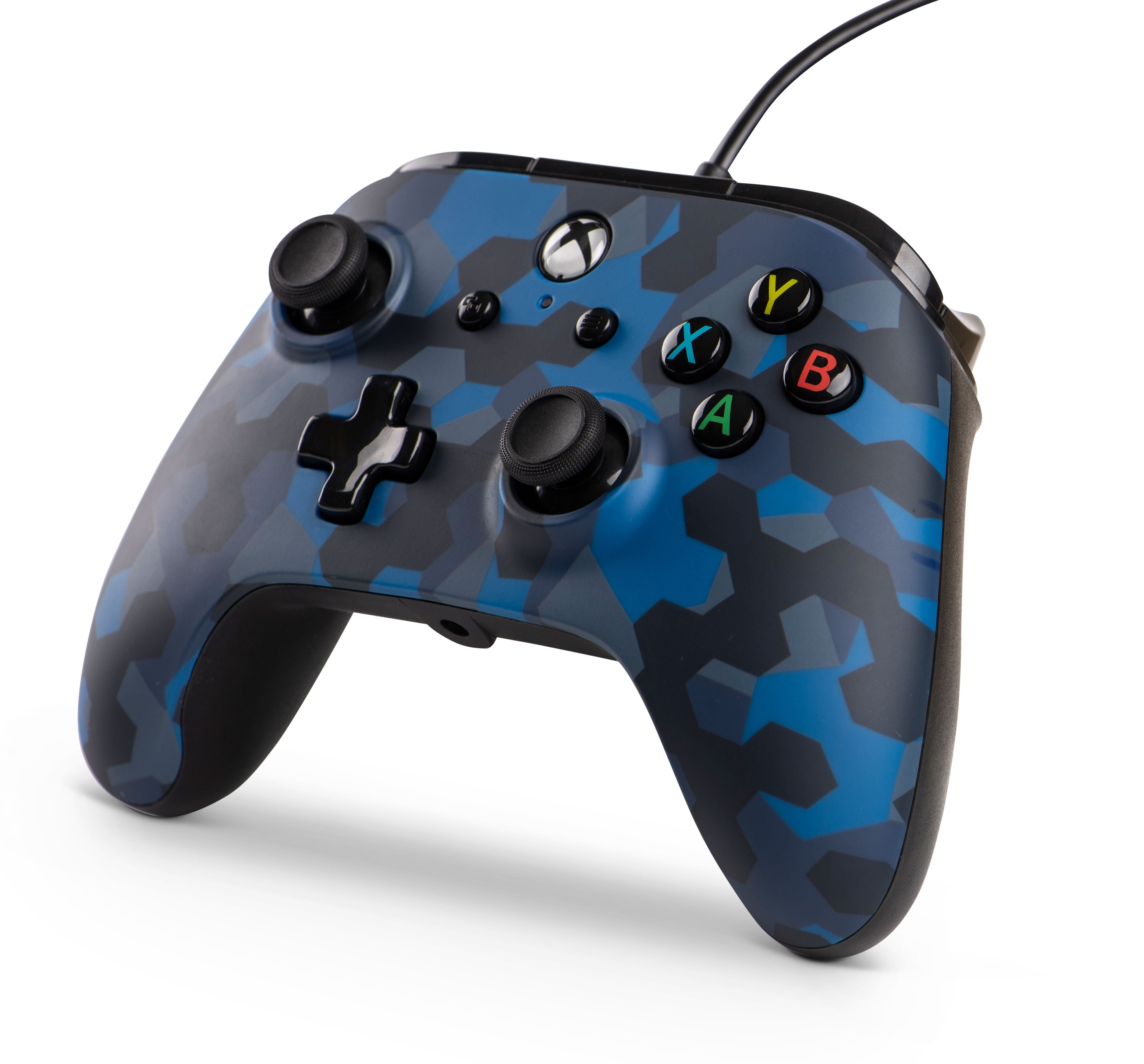 PowerA Xbox One Wired Stealth Controller, Blue Camo ...