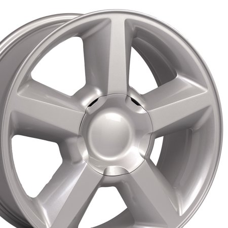OE Wheels 20 Inch | Fits Chevy Silverado, Tahoe, GMC Sierra, Yukon, Cadillac Escalade | CV83 Painted Silver 20x8.5 Rim Hollander 5308