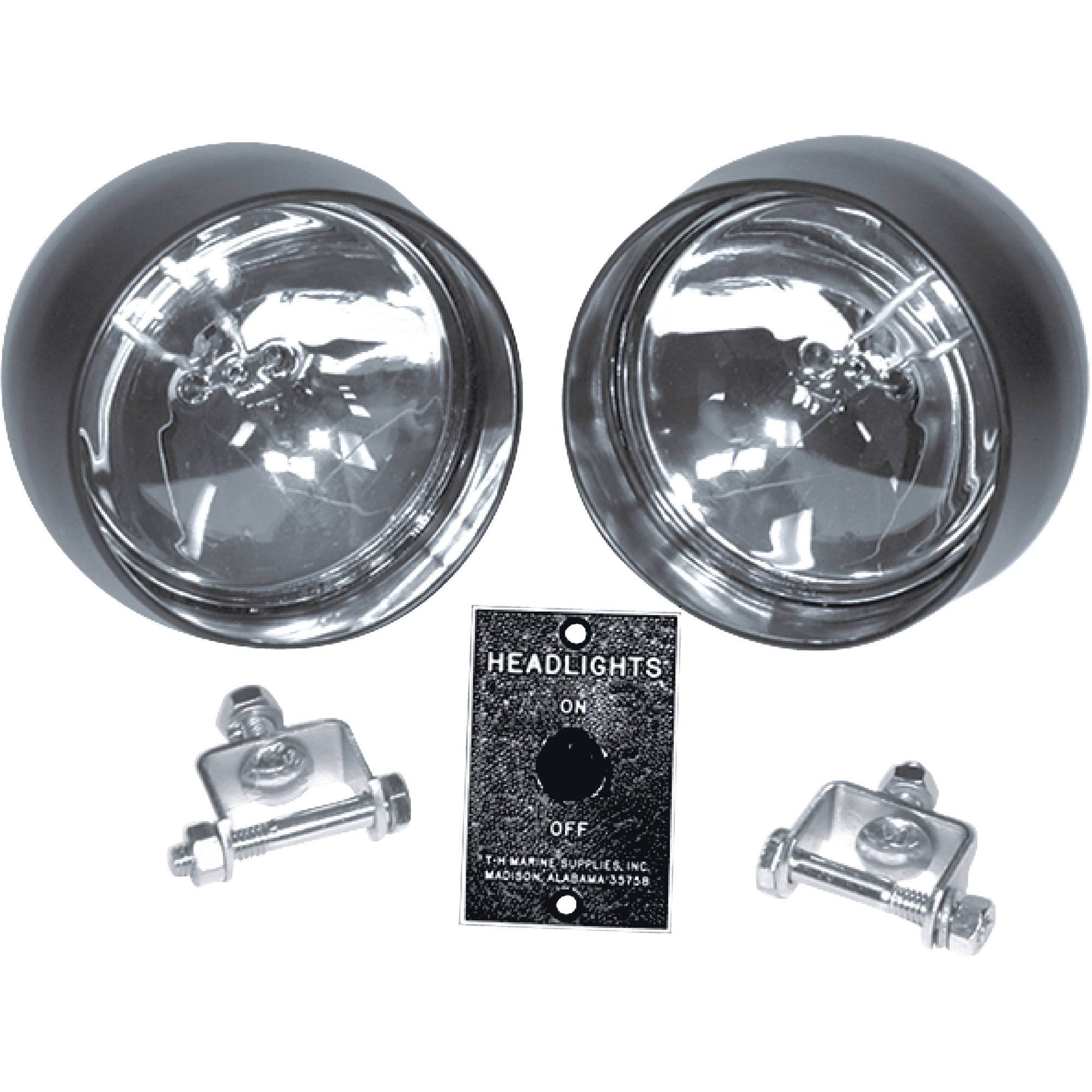 T-H Marine Head Light Kit (Includes 2 Lamps, Switch Panel and Mounting Hardware) by T-H Marine Supplies