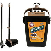 "Arm and Hammer 71034 32"" Swivel Bin and Rake"