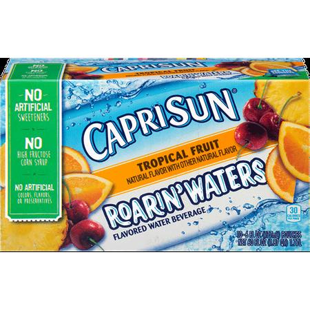 Capri Sun Roarin' Waters Juice Pouches, Tropical Fruit, 6 Fl Oz, 10 Count - Halloween Capri Suns