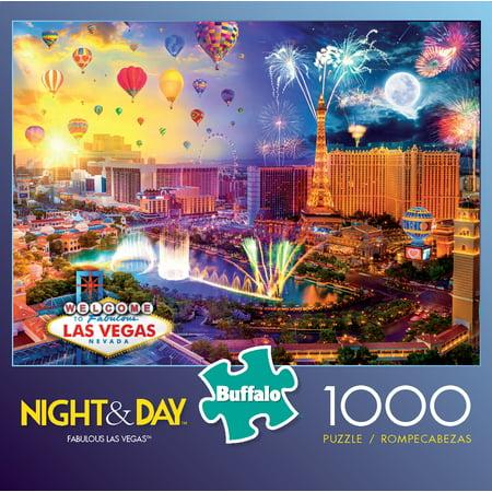 Buffalo Games - Night & Day Series - Fabulous Las Vegas - 1000 Piece Jigsaw