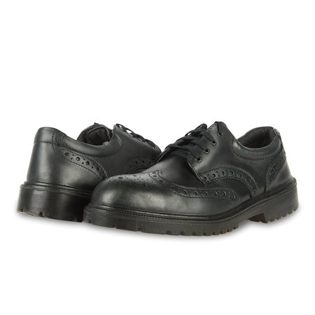 Perforated Wing Tip - King's by Honeywell KEWT84 Mens Leather Black Steel Toe Executive Wing Tip Shoes
