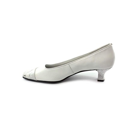 Vaneli Womens Rickie Leather Cap Toe Classic Pumps