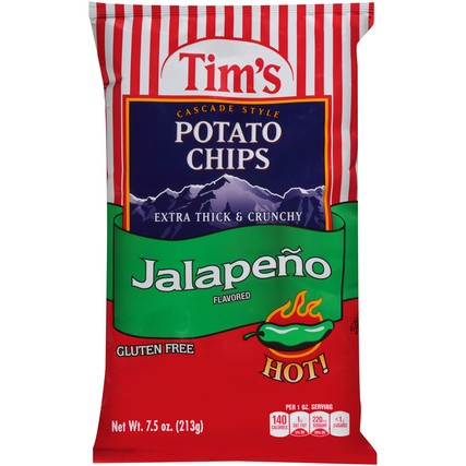 Tims Extra Think & Crunchy Jalapeno Chips, 48 Ct