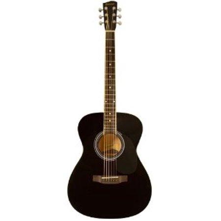 Savannah SGO-12-BK 000-Style Acoustic Guitar, Black (Martin 000 28m Eric Clapton Acoustic Guitar)