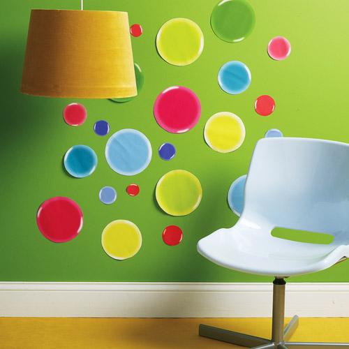 Wallies - 3D Dots Peel and Stock Vinyl Wall Art