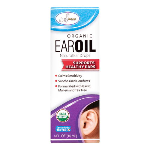 Wallys Natural Organic Ear Oil, 0.5 oz, 2 Pack