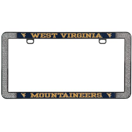 West Virginia Mountaineers Metal Thin Rim Acrylic Laser-Cut License Plate Frame - No Size