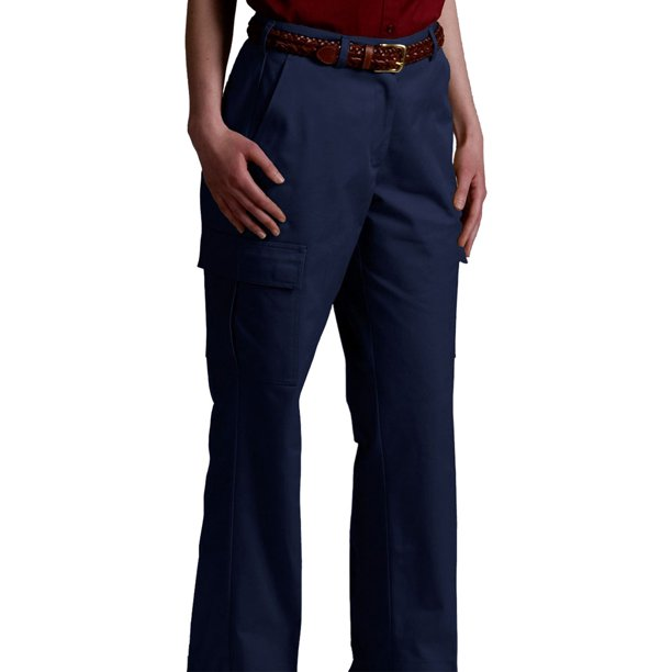Edwards Garment Women's Velcro Closure Casual Chino Blend Cargo Pant