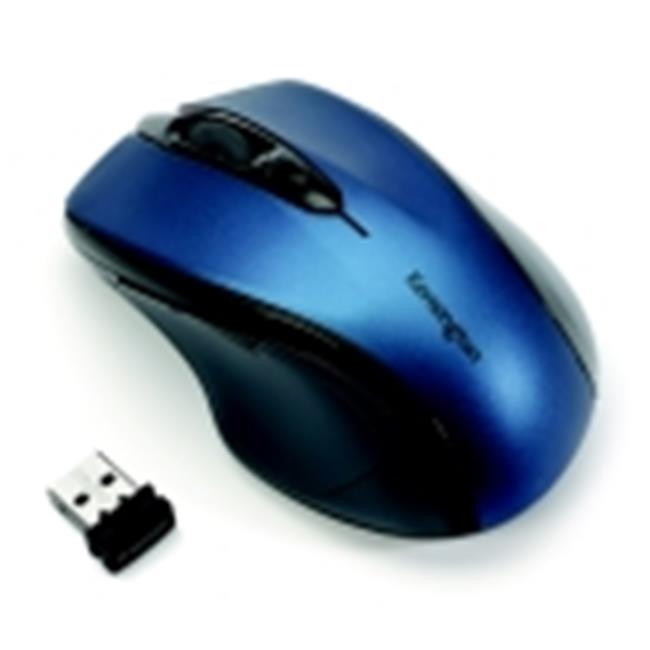 Kensington Pro Fit Optical Mid Sized Right Handed Wireless Mouse USB Interface, Sapphire Blue by Kensington