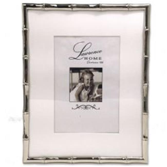 LawrenceFrames 710180 8 x 10 in. Bamboo Picture Frame, Silver - image 1 de 1
