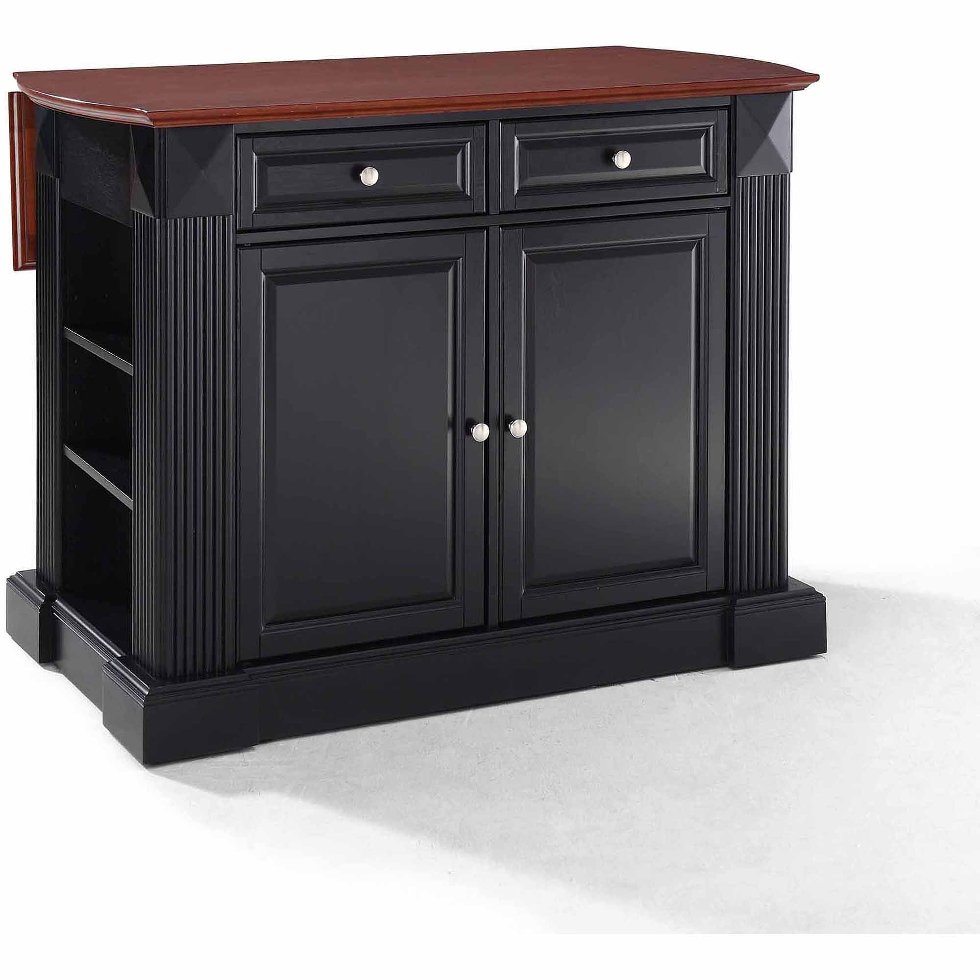 Crosley Furniture Kitchen Island Crosley Drop Leaf Breakfast Bar Top Kitchen Island In Black Best