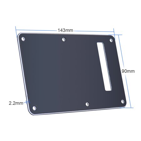 Pearloid Tremolo Cover - Pickguard Tremolo Cavity Cover Backplate Back Plate 3Ply for Stratocaster Strat Modern Style Electric Guitar Black