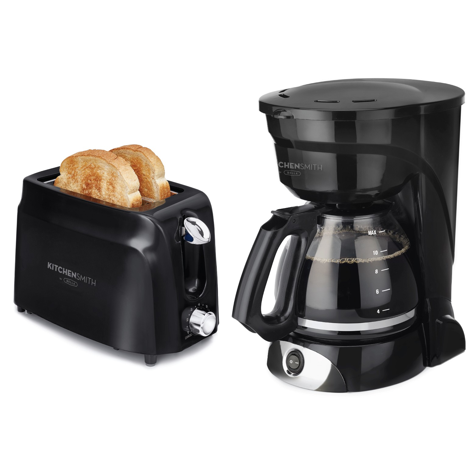 KitchenSmith by Bella Coffee/Toast Bundle, Black	52165641