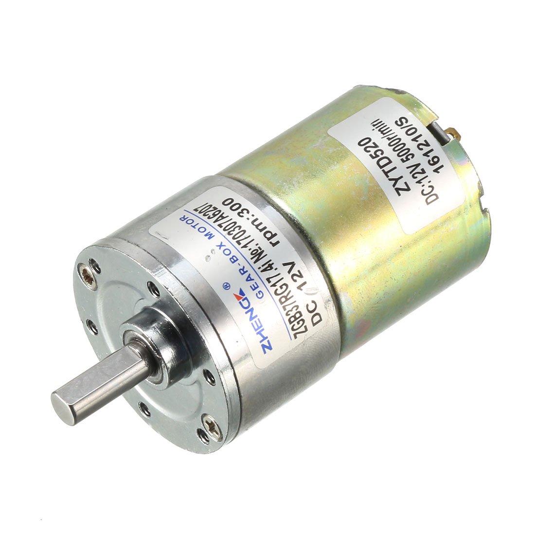 DC 12V 130mA 300RPM 0 3Kg-cm High Torque Permanent Magnetic DC Gear