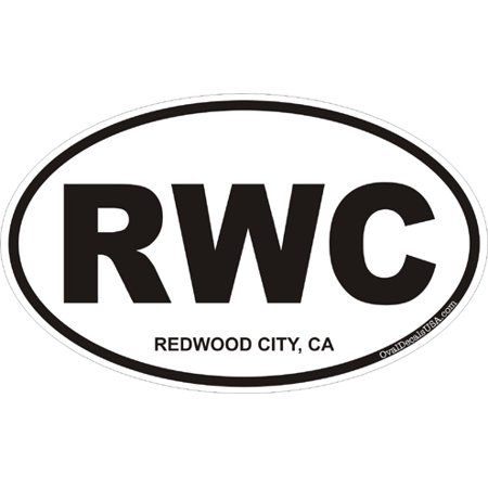 Redwood City Events (3.8 Inch Redwood City California Oval)