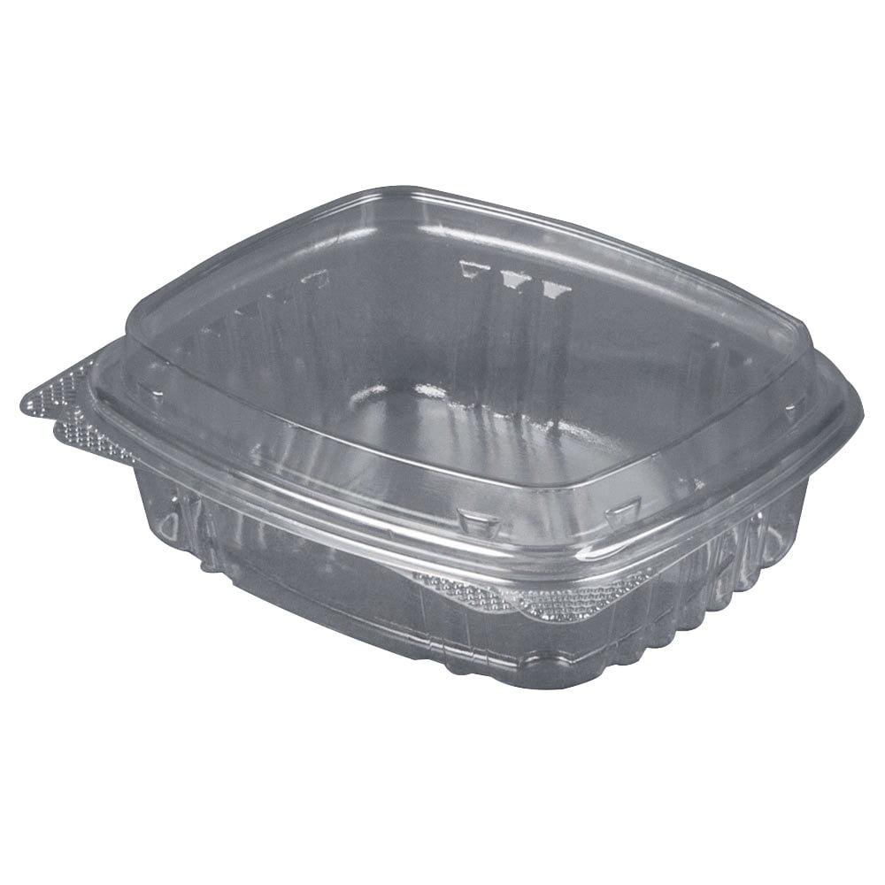 Genpak Secure Seal APET Plastic Rectangle Food Container Clear, 16 oz. | 200/Case