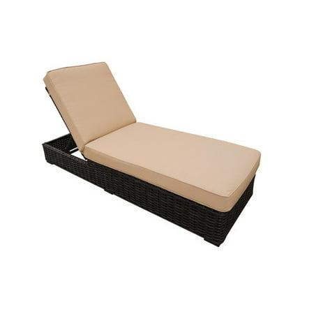 Teva Patio Santa Monica Wicker Rattan Patio Chaise Lounge