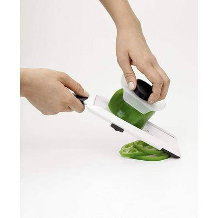 Adjustable Quick & Easy Handheld Fruit & Vegetable Mandoline Slicer 10' Serrated Long Slicer