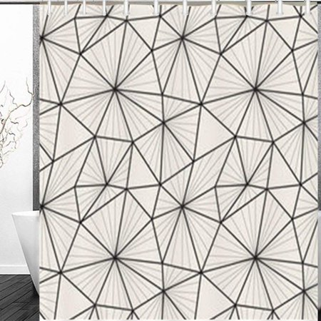 RYLABLUE Mesh Repeating Texture Textures Asymmetric Grids Pattern Shower Curtain 60x72 Inches - image 1 de 1