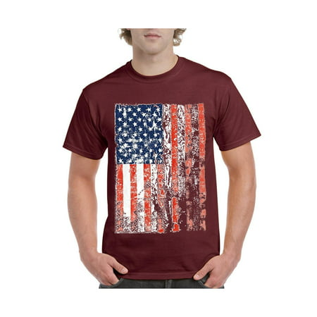 IWPF - United States of America Flag Vintage USA Flag Men s Short Sleeve  T-Shirt - Walmart.com f59c3e80951