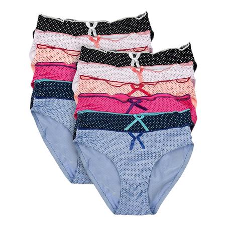 ce03366b0b7 Underwear for Women Bikini Underwear 12 Pack Low Rise Panties