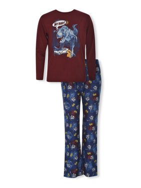 Sleep On It Boys Long Sleeve & Pant 2-Piece Pajama Set Sizes 6-14