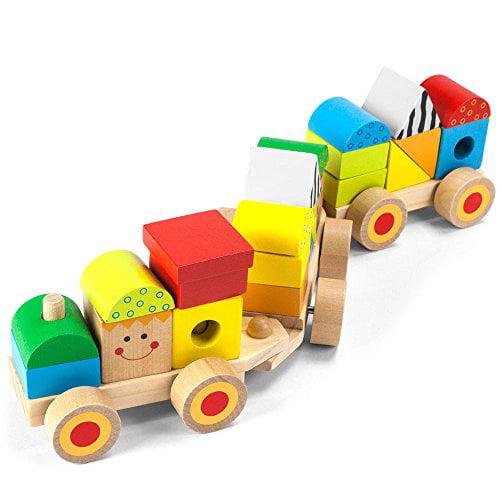 Imagination Generation Bold Brilliant Stacking Train Wooden Fine