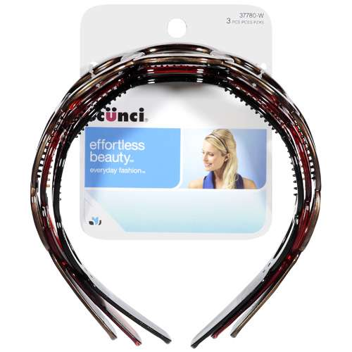 Scunci Effortless Beauty: Headbands, 3 ct