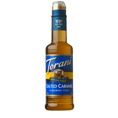 Torani Flavoring Syrup, Sugar Free Salted Caramel, 12.7 Fluid Ounce Bottle