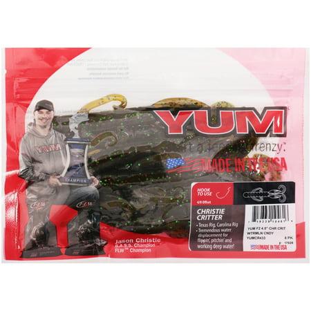 "YUM 4.5"" Christie Critter Bait 8 Ct Pack"