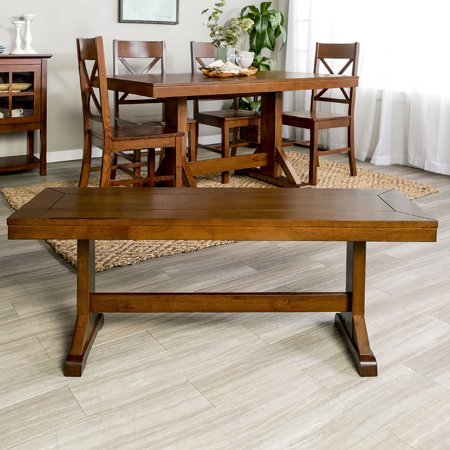 Stupendous Manor Park Traditional Wood Dining Bench Antique Brown Alphanode Cool Chair Designs And Ideas Alphanodeonline