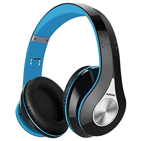 Mpow 059 Bluetooth Headphones Over Ear, Hi-Fi Stereo Wireless Headset,  Foldable, Soft Memory-Protein Earmuffs, w/Built-in Mic and Wired Mode for