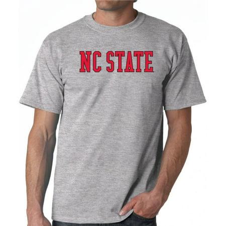 J2 Sport NC State Wolfpack NCAA Block Unisex Grey T-shirt (Nc State Wolfpack Classic Shirt)