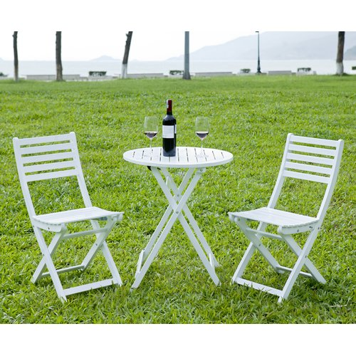 HRH Designs 3 Piece Round Bistro Set