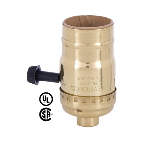 B&P Lamp 3-Way Turn Knob Brass Socket