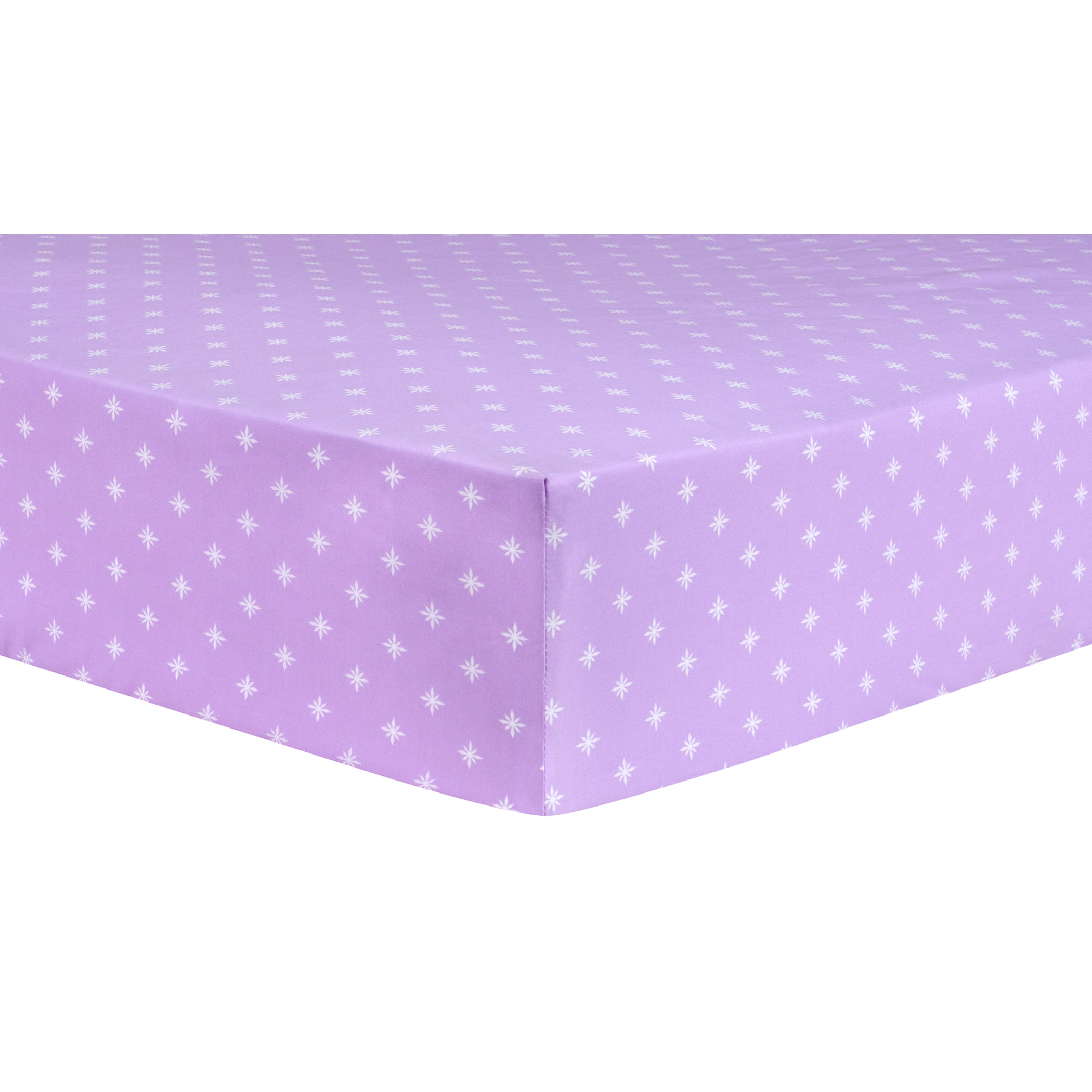 Stars Lavender Fitted Crib Sheet