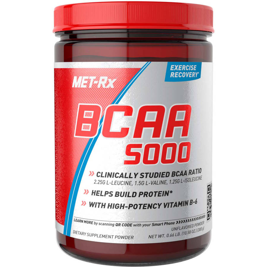 MET-Rx BCAA 5000 Unflavored Dietary Supplement Powder, 10.58 oz