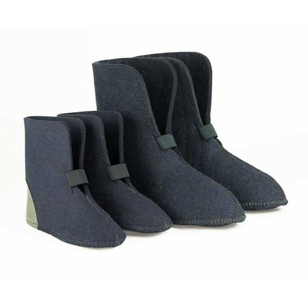 Boot Liners - 75% Wool, Navy Blue (624/626), 10 Inch