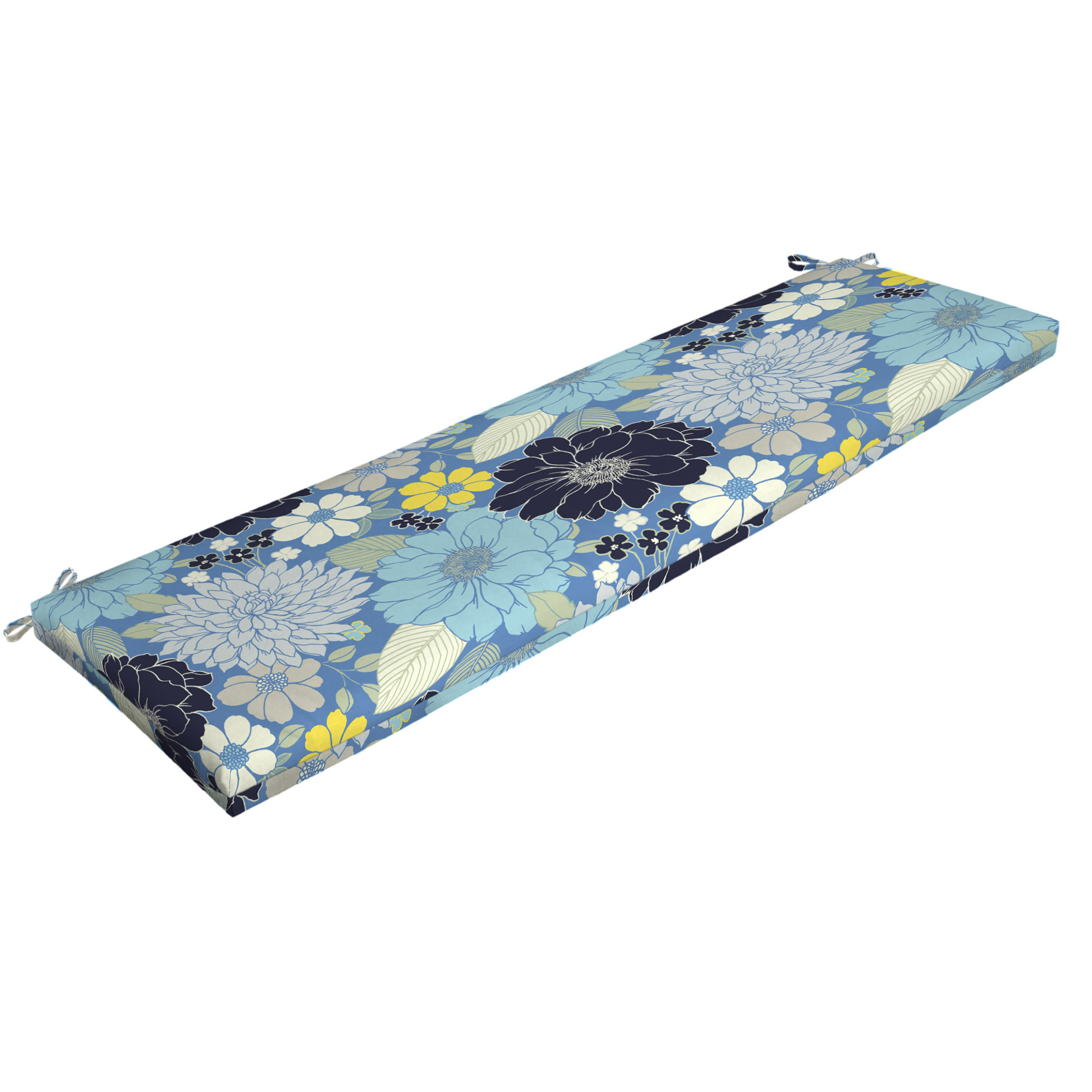 Mainstays Bell Gardens Floral Outdoor Patio Bench Cushion, 46 in. W x 17 in. D x 3 in. H