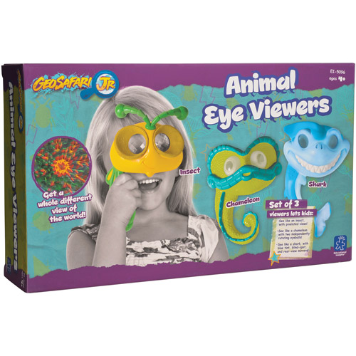 Educational Insights GeoSafari Jr. Animal Eye Viewers Box, Set of 3