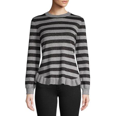 Sweater Trump Trump Striped Ruffle Ivanka Striped Ivanka 1TFJclK3