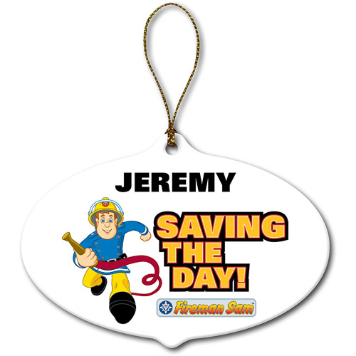Personalized Fireman Sam Saving the Day Ornament