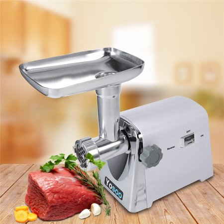 Meat Grinder Electric Mincer Machine Professional 1600W Stainless Steel Heavy Duty Sausage Stuffer with 3 Grinding plates for Home Commercial Food (Best Sausage Machines)
