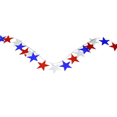 Red, White, and Blue Star - Red White And Blue Garland