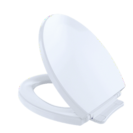 TOTO® SoftClose®Non Slamming, Slow Close Round Toilet Seat and Lid,Cotton White - SS113#01 ()