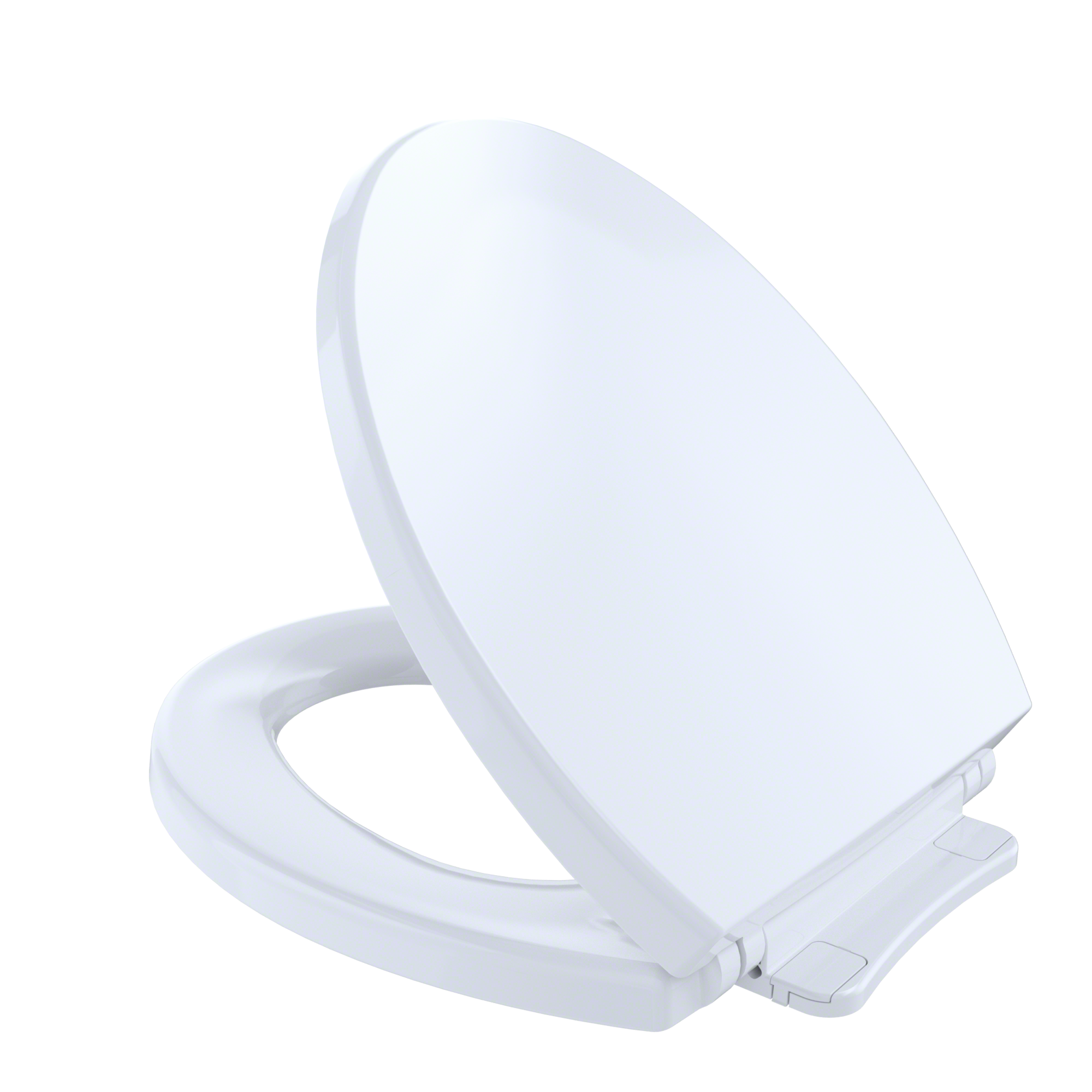 TOTO® SoftClose®Non Slamming, Slow Close Round Toilet Seat and Lid,Cotton White - SS113#01