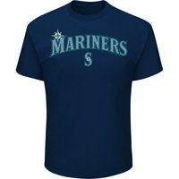 98f4fbf252f Product Image Men s Majestic Navy Seattle Mariners Bigger Series Sweep  T-Shirt