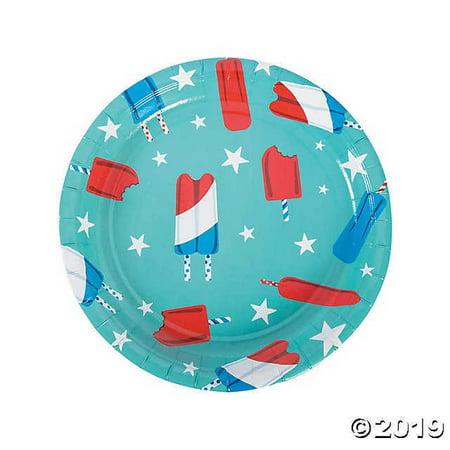 Patriotic Pop Paper Dinner Plates](Patriotic Paper Plates)